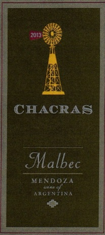 CHACRAS MALBEC FRONT LABEL